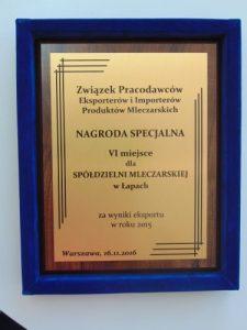 Nagroda specjalna dla SM w Łapach